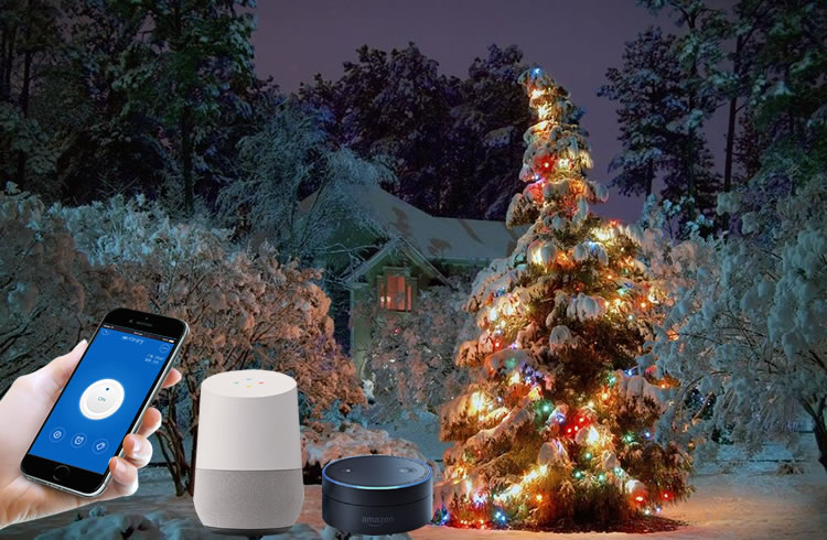 we selected the sonoff basic as the smart switch to remote control the christmas tree lighting on phone the sonoff basic is an inexpensive solution - Outdoor Christmas Tree Lights